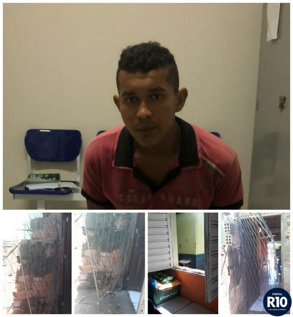 Suspeito de arrombamento a secretária de educação e a panificadora é preso