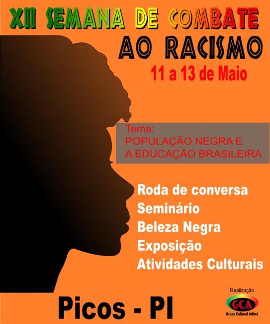 Grupo Cultural Adimó realiza a 12ª Semana de Combate ao Racismo