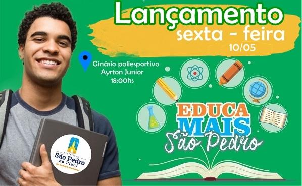 Programa Educa Mais São Pedro será lançado nesta sexta-feira