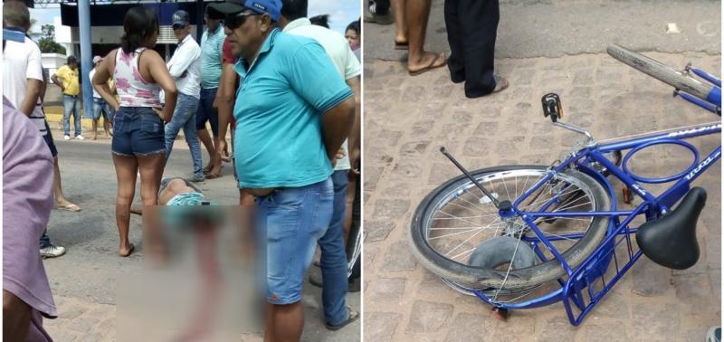 Caminhonete Hilux atropela e mata ciclista na BR-316
