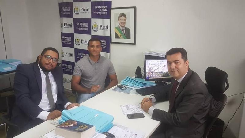 Rayonardo e Coord Dadvi visitou a Coordenadoria  de Enfrentamento às Drogas