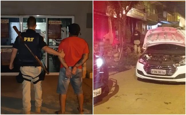Homem é preso com carro de empresa de locação de veículo no PI