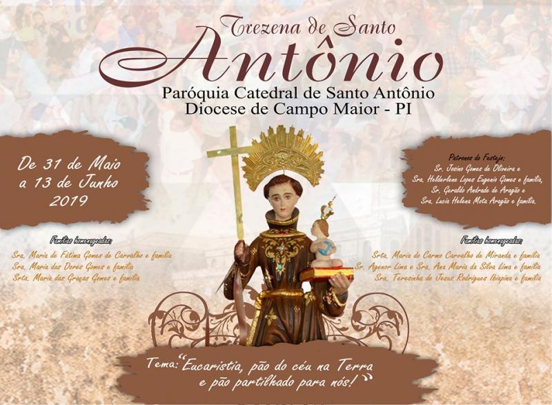 Catedral divulga programação para o Festejos de Santo Antônio 2019