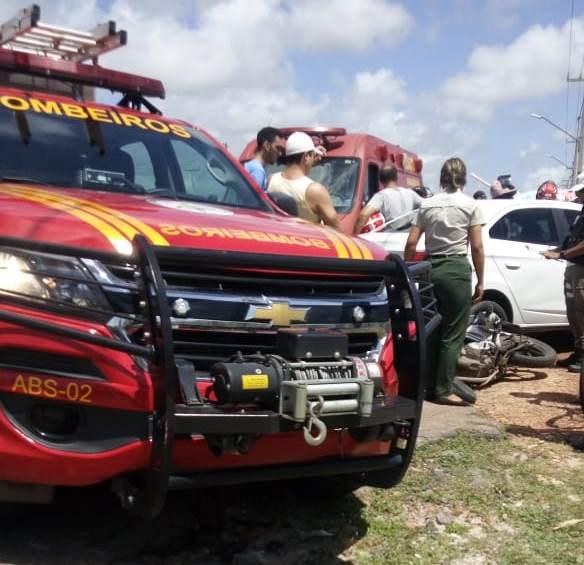 Motociclista fica gravemente ferido após acidente em Parnaíba
