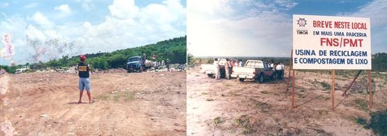 A Usina de Reciclagem e o aterro sanitário de Timon