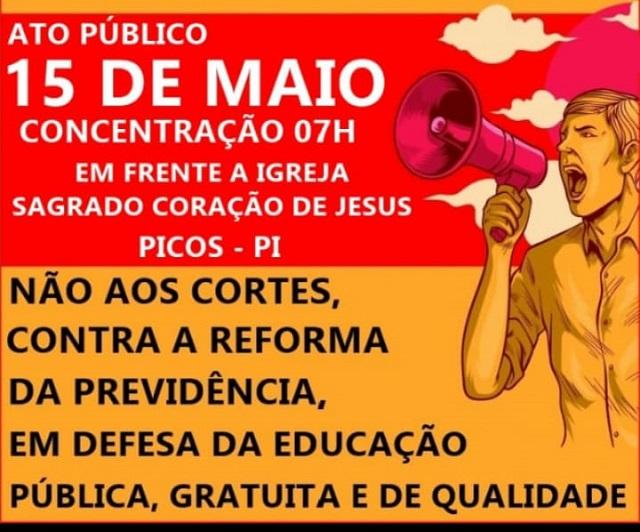 Manifestação pela  reforma da previdência e a educação acontece amanhã