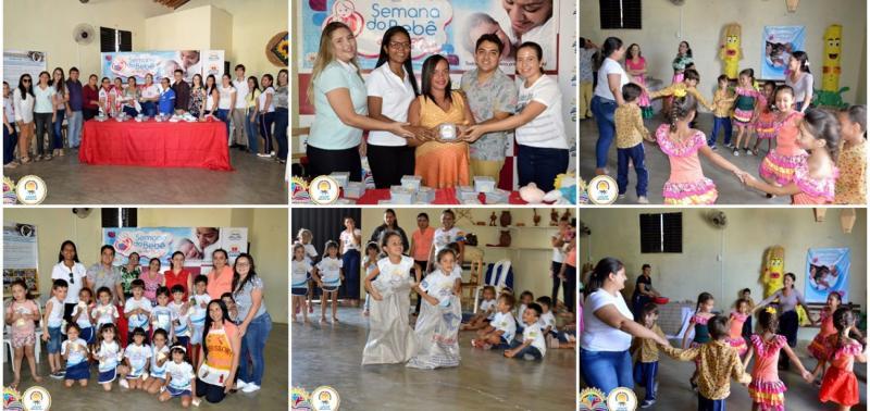 Palestras e atividades recreativas marcam segundo dia da 10ª Semana do Bebê