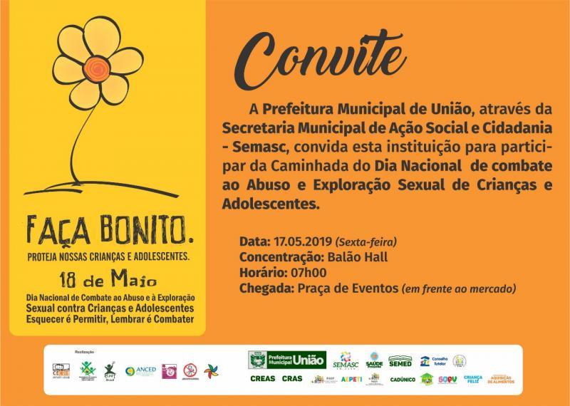 18 DE MAIO: Caminhada em alusão à campanha será realizada na sexta (17)