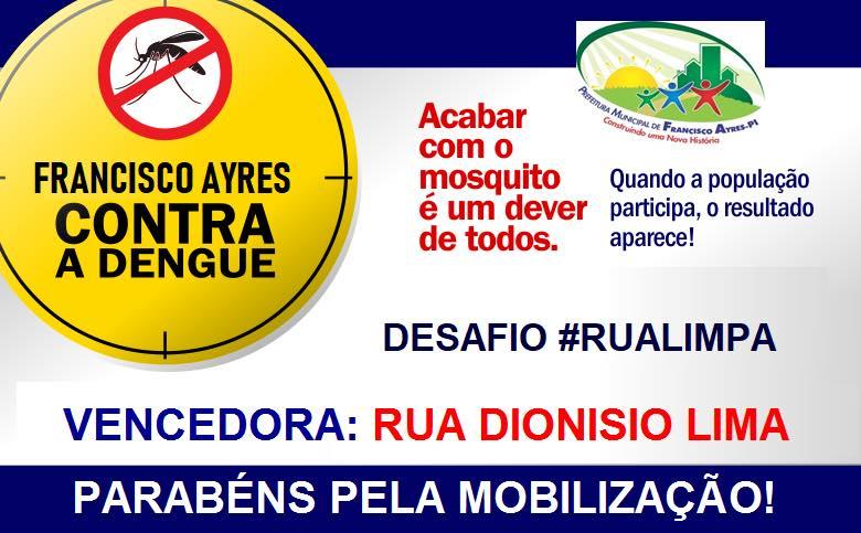 Secretaria de Saúde divulga resultado do 'Desafio #Rualimpa'