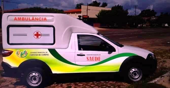 Saúde de Capitão de Campos recebe mais uma ambulância