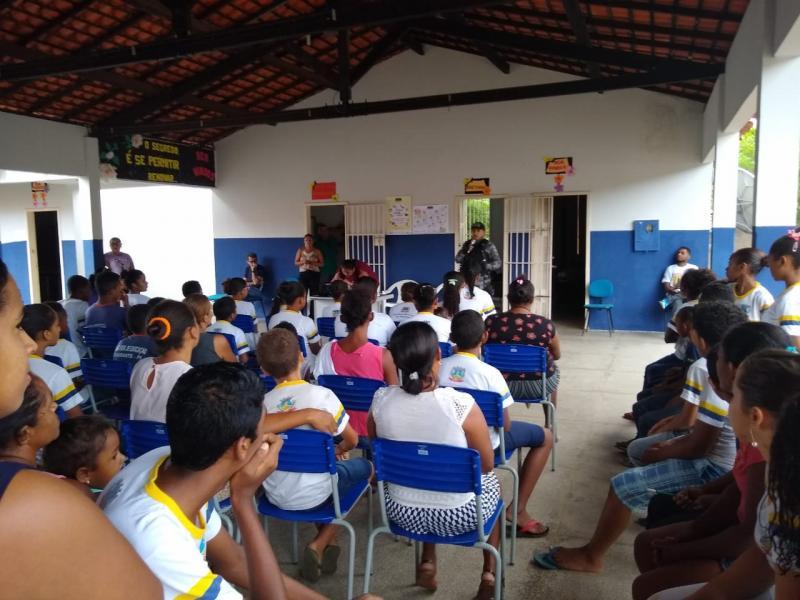 Força Tática realiza palestra na Comunidade Lagoa município de Amarante