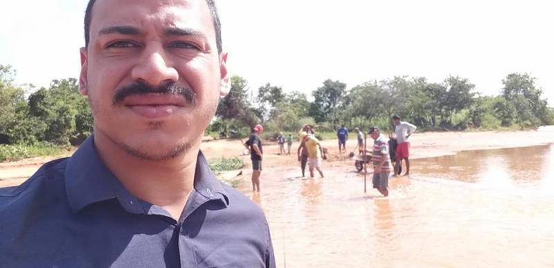 Vereador de Gilbués denuncia descaso da Prefeitura com ponte no município