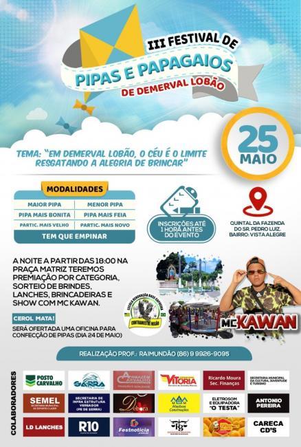 III Festival de pipas e papagaios de Demerval Lobão