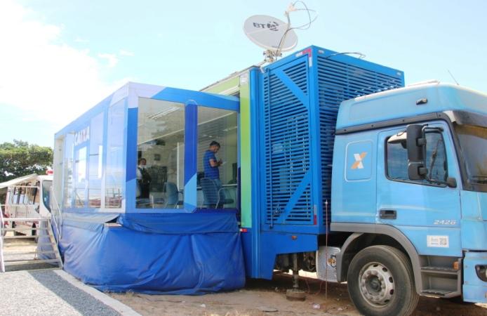 Agência móvel da Caixa Econômica iniciará os atendimentos nesta terça-feira