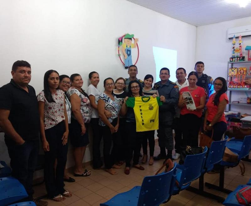 35ºBPM realiza reunião pedagógica do proerd em Passagem Franca-Ma