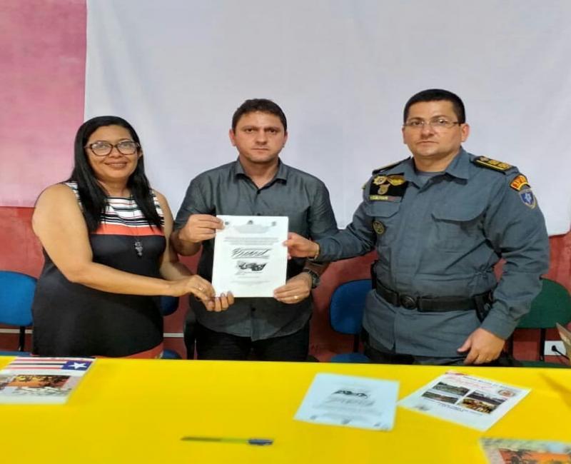 35º BPM e prefeitura de Passagem Franca assinam protocolo para o proerd
