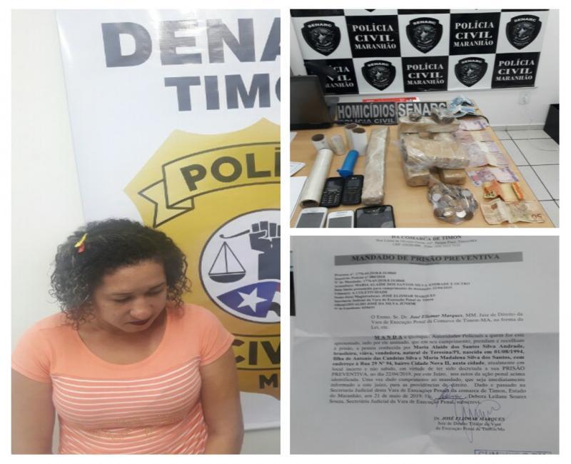 Denarc/Timon cumpre mandado e prende mulher condenada por tráfico de drogas