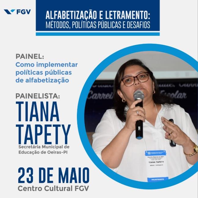 Oeiras participa de painel sobre alfabetização promovido pela FGV