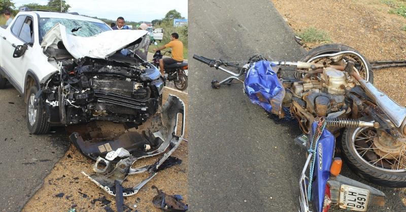 Colisão entre carro e moto deixa duas vítimas fatais em Oeiras