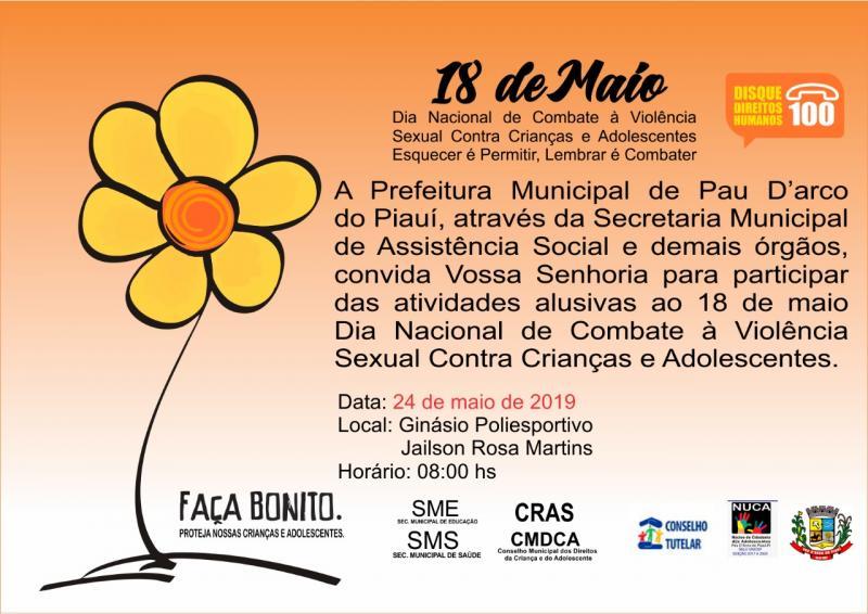 Pau D'arco do PI realiza na sexta (24) a Campanha Faça Bonito