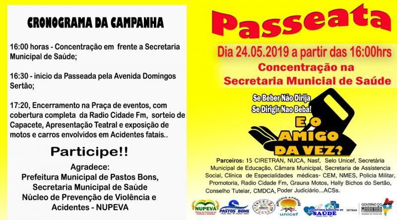 Ciretran de São João dos Patos realizará campanha educativa em Patos Bons