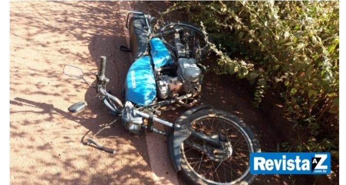 Idoso sofre acidente de moto na ladeira do aposento em Batalha