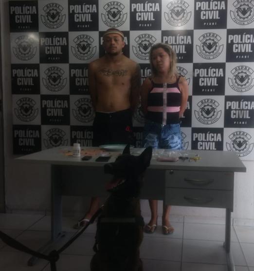 Casal é preso com 70 pedras de crack em Teresina