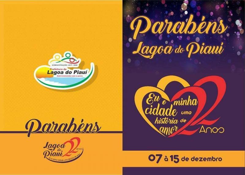Prefeitura de Lagoa do Piauí divulga programação do aniversário da cidade