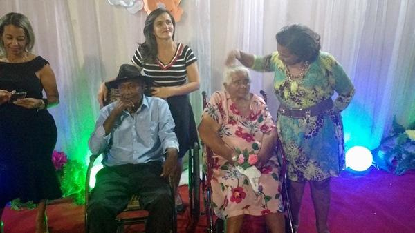 Maria do Leão completa 91 anos e ganho dos familiares uma grande festa.