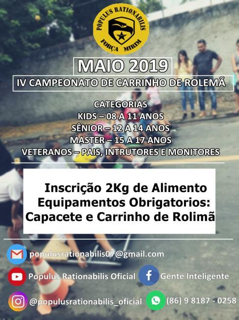 Banner do 4º Campeonato de Carrinho de Rolimã 2019