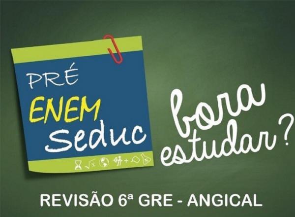 Seduc realiza revisão Pré-Enem em Angical neste sábado