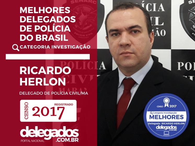 Ricardo Herlon está entre os melhores delegados do Brasil
