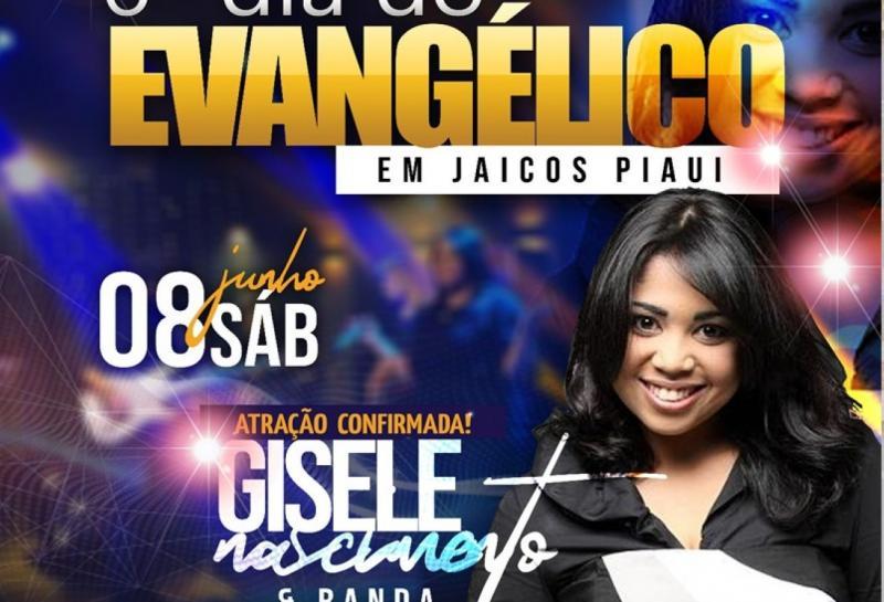 Jaicós terá Marcha para Jesus e show de Gisele Nascimento