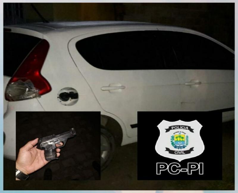 Homem é preso com veículo roubado em Piripiri