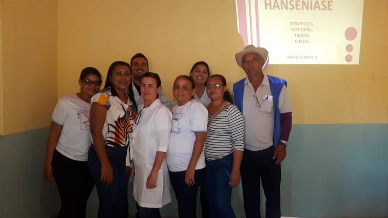 Secretaria de Saúde Barra D'Alcântara faz campanha de combate à Hanseníase