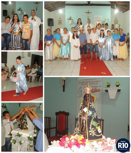 Crianças encenam coroação da imagem de N. Sra. Aparecida