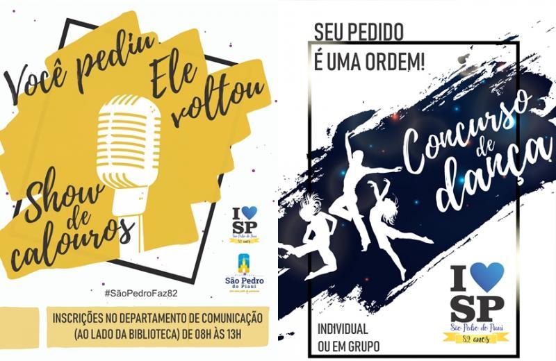 Abertas inscrições para show de calouros e concurso de dança em São Pedro