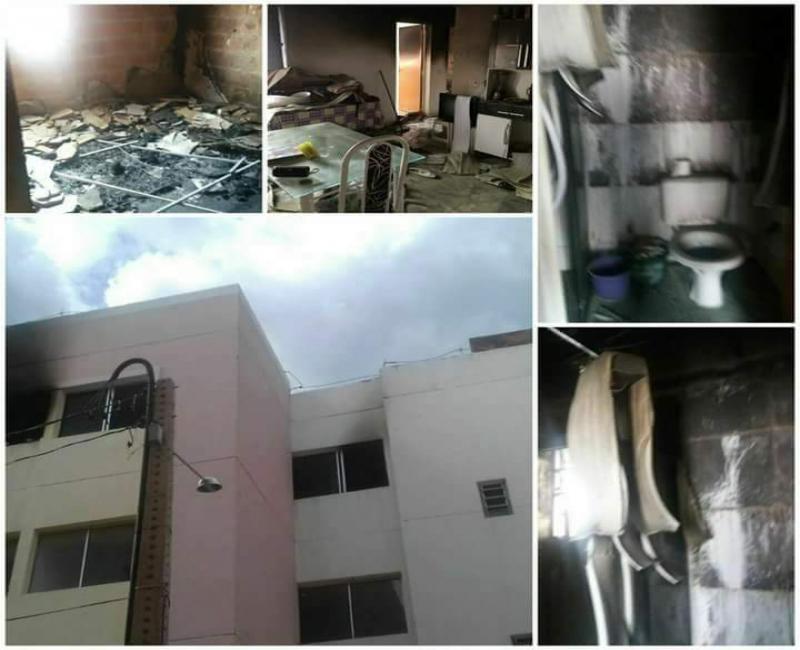 Jovem de Bom Jesus que teve apartamento destruído por incêndio em Teresina pede ajuda