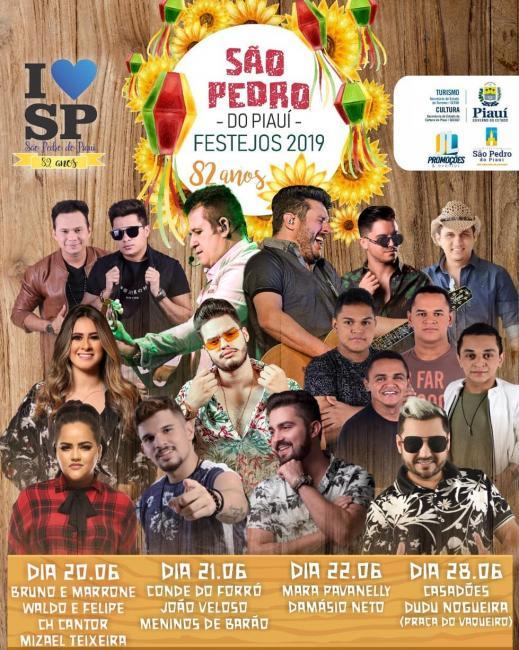 Programação dos Festejos de São Pedro do Piauí