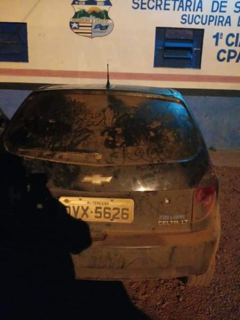 Policiais da cidade de Sucupira do Norte recuperam veículo roubado