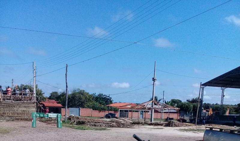 Construção das barracas no espaço Cultural dos Cocais seguem a todo vapor