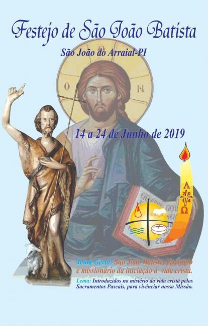 Área Pastoral São João Batista divulga convite  para os festejos
