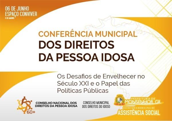 II Conferência Municipal dos Direitos da Pessoa Idosa em Monsenhor Gil