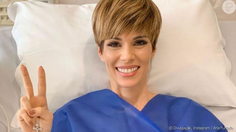 Apresentadora Ana Furtado comemora fim do câncer de mama