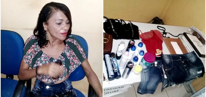 Mulher é presa por furtar confecções e produtos de beleza em Inhuma