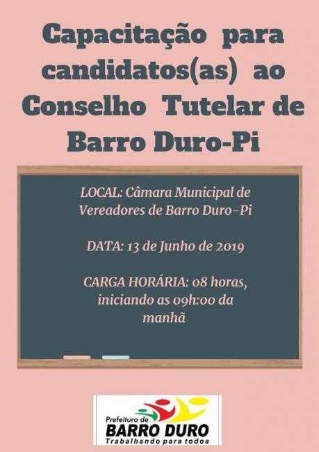Prefeitura de Barro Duro promoverá capacitação voltada ao Conselho Tutelar