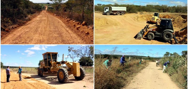 Prefeitura investe na melhoria das estradas vicinais em Caldeirão Grande
