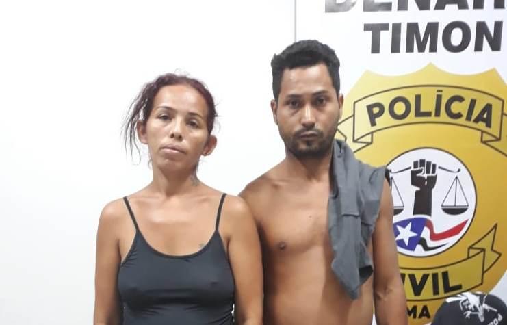 Polícia Civil/Timon prende casal com drogas e dinheiro na 'Beira da Linha'