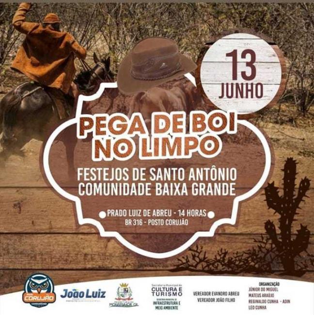 'Pega de Boi no Limpo' aconteceu nessa quinta em Monsenhor Gil