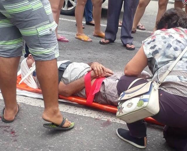 Homem fratura perna em acidente de trânsito em Parnaíba